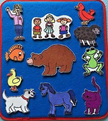 Brown Bear Felt / Flannel Board Set - Felt Boards