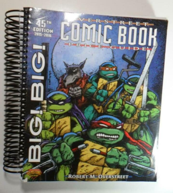 BIG BIG OVERSTREET PRICE GUIDE #45 2015 2016 USED TNMT TEENAGE MUTANT TURTLES