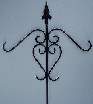 """Garden Shepherd Hook metal NEW 37"""" tall to hang your bird house, feeder, etc"""