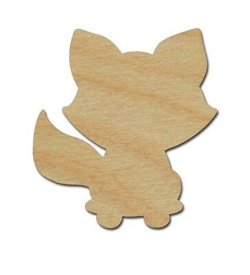Raccoon Shape Unfinished Wood Animal Craft Cutouts Variety of Sizes