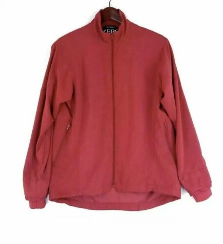 Zero Restriction Women Golf Jacket Small Red M2 Windshirt Zip Outerwear $195