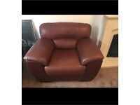 Leather armchairs x2