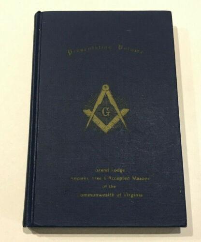 Vintage Presentation Volume Grand Lodge Ancient, Free & Accepted Masons Virginia