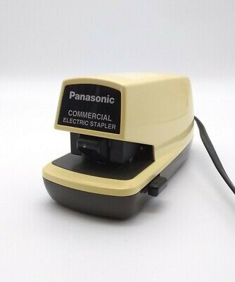 Panasonic Commercial Electric Stapler Desk Top Automatic Hands Free As-300n