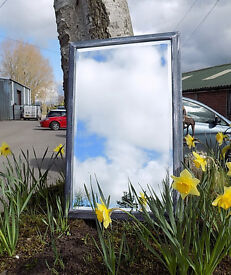 Painted Shabby Chic Grey Bevelled Wall Mirror