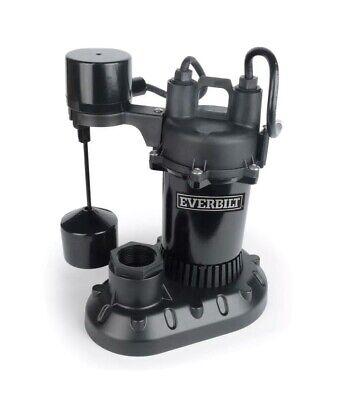 Everbilt Submersible Sump Pump Vertical Float Switch Aluminum 2400 Gph 12 Hp