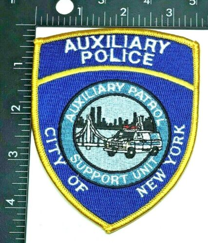 NYPD SUPPORT UNIT AUXILIARY POLICE PATROL PATCH (PD 10) SHOULDER INSIGNIA