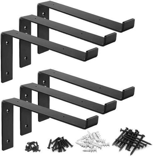 6 Packs Shelf Bracket Industrial Farmhouse Iron Metal Wall Floating 170lb