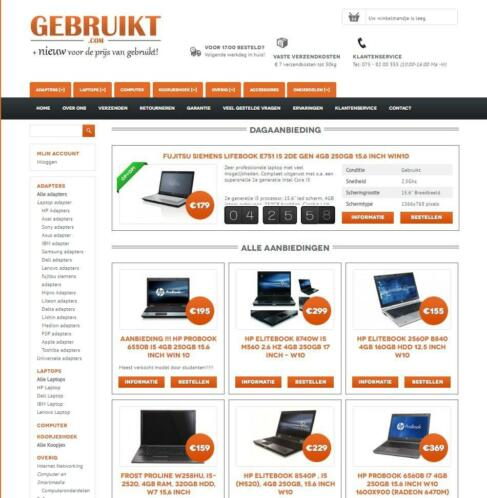 refurbished laptop vanaf 155 euro inc 21% BTW + garantie