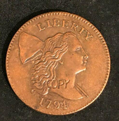 1794 Liberty Cap W Pole Large Cent Copper Gallery Mint Museum #74
