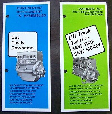 Continental Engine Block Assemblies For Fork Lift Trucks Dealer Sales Brochure