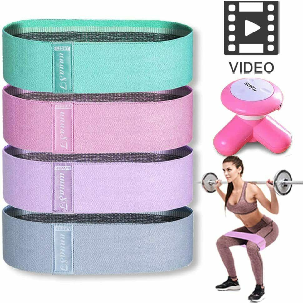 Resistance Workout Bands for Legs and Butt Exercises Set wit