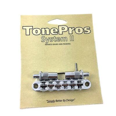 "TonePros T3BT Chrome Locking ""Big Hole"" T-O-M Style Guitar Bridge GB-0528-010"
