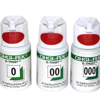 3 Bottle Dental Cihgi-fek G-thqst Gingival Retraction Cord Packing Size 0 00 000