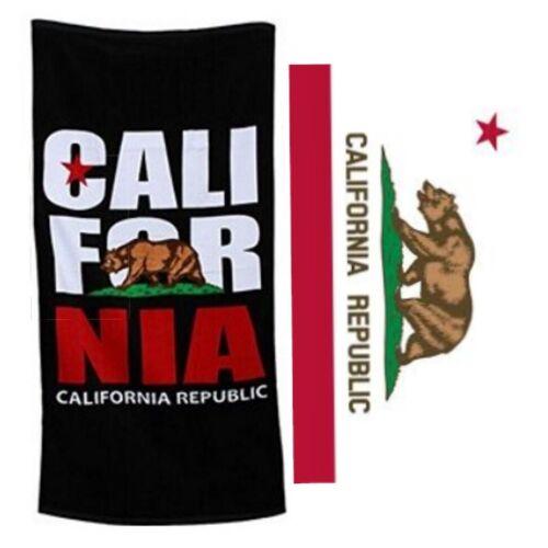 """California Flag Beach Towels - California Republic Beach Towel 30""""x60"""" & 40""""x70"""""""