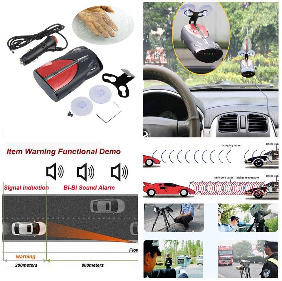 360° Car 16-Band GPS Laser Voice Alert Radar Detection Traffic Monitor 6 Signal