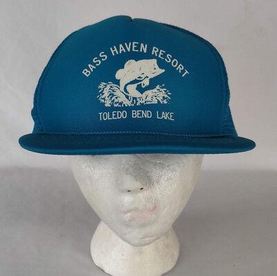 Haven Resort (Vintage Bass haven Resort Toledo Bend Teal Mesh Snapback  Souvenir Trucker Hat)