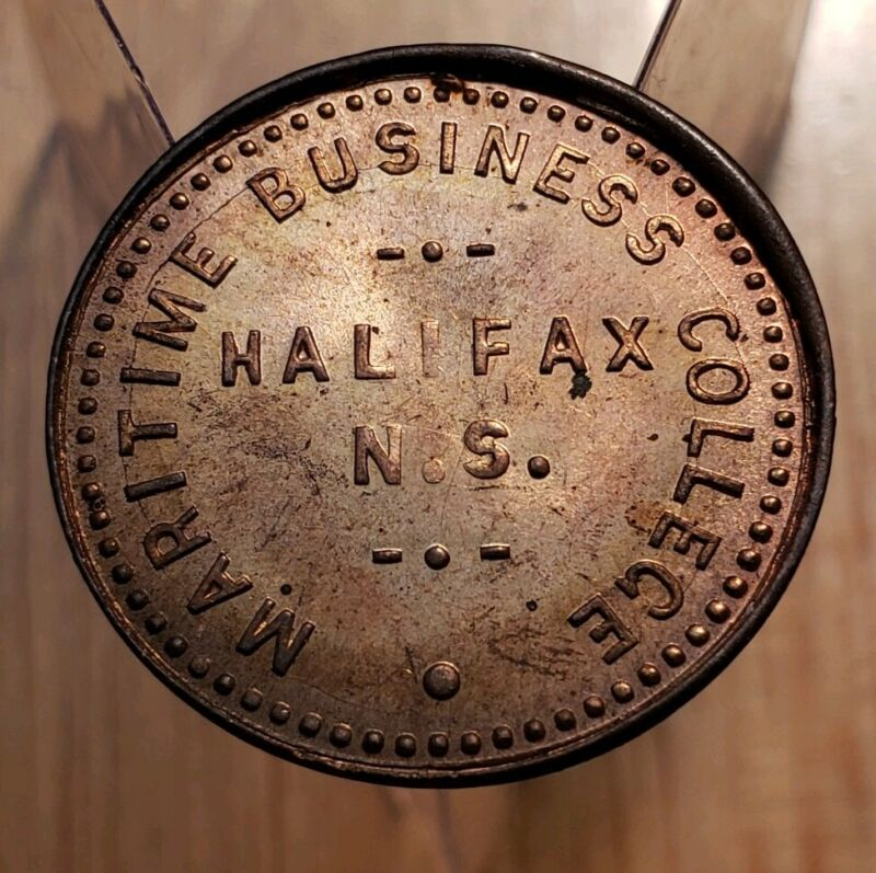 MARITIME BUSINESS COLLEGE HALIFAX N.S. TOKEN - Copper 1 Dollar College Currency