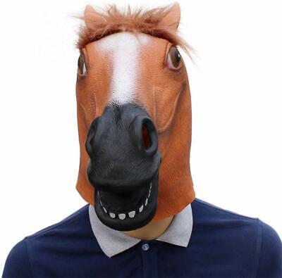 New Unique Latex Rubber Horse Head Mask Costume Halloween Gangnam Style Dance