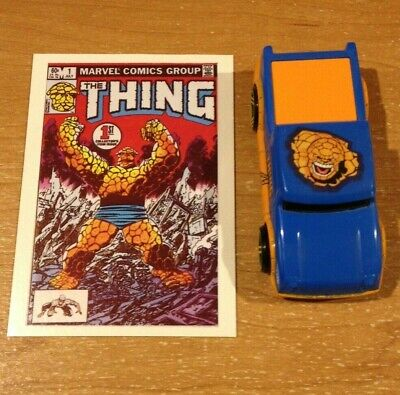 2007 Fantastic Four THE THING Truck Car 1:64 hot wheels size toy & Trading Card