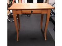 Wooden pine desk with drawer