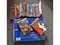 Panasonic DVD Player With Box Sets Firefly Serenity Rocky Miami Vice Bourne Terminator TSCC