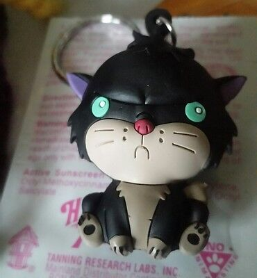 NEW Disney Villains Figural Keyring CAT Lucifer Cinderella Black EVIL Kitty 3D