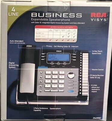 Rca 25425re1 New Business 4 Line Up To 16 Expandable Wdigital Answering System