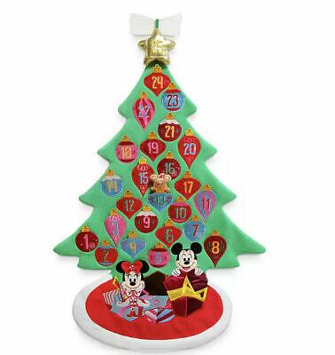 Disney Gingerbread Mickey & Minnie Plush Christmas Advent Calendar Wall Hanging