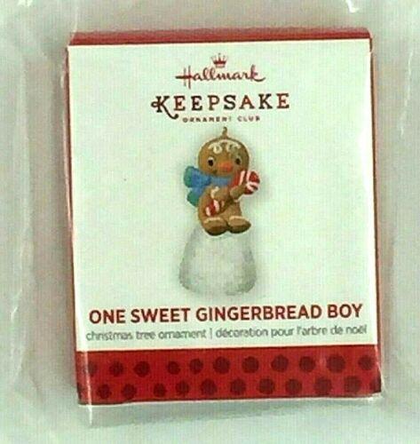 "Hallmark 2013 KOC miniature repaint ornament, ""One Sweet Gingerbread Boy"""