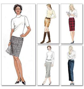 From UK Sewing Pattern Pencil Skirt Skirts 16-22 #3830