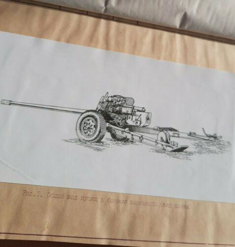 USSR RUSSIA ARMY anti-tank cannon gun MT-12 противотанковая пушка MANUAL BOOK