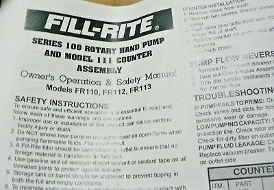 Tuthill Fill-rite Model 110 Series 100 Cast Iron Rotary Vane Fuel Transfer Pump