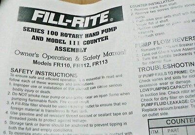 Tuthill Fill-rite Model 110 Series 100 Cast Iron Rotary Vane Fuel Transfer Pump