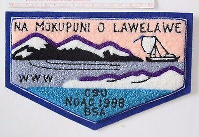 Na Mokupuni O lawelawe Lodge 567 C1 OA Chenille 1988 NOAC patch BSA mint