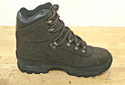 N-steps Brown Leather Insulated Work Boot Steel Toe Size 7 Us
