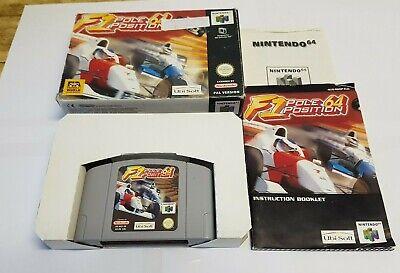 F1 Pole Position 64 - Nintendo 64 N64 game- CIB EUR PAL Racing Formula 1