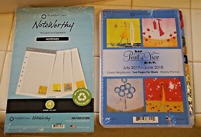 Franklin Covey Classic Notepad Note Pad Her Point Of View Lot New Sealed
