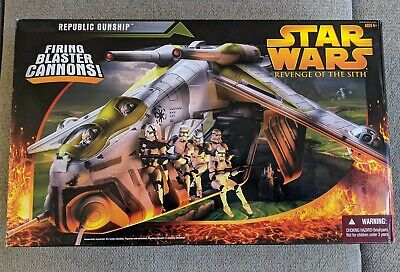 Star Wars REPUBLIC GUNSHIP Revenge of the Sith ROTS Vehicle Clone Wars UNUSED