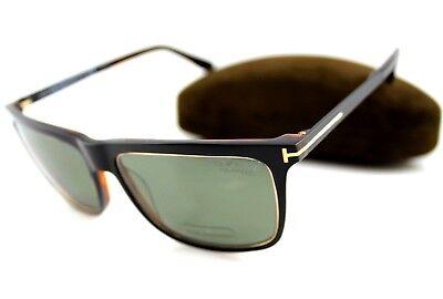 POLARIZED TOM FORD KARLIE Black Havana Grey Green Sunglasses TF 392 FT 0392 (Tom Ford Karlie)