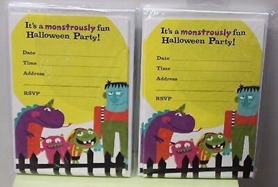 20 MONSTER HALLOWEEN PARTY INVITATIONS Kids Child Fun Cute Invites Hallmark NEW - Fun Halloween Invitations