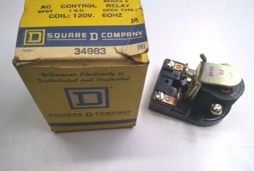 Square D Company 8501 CO-1 AC Control Relay Series B 120V 60HZ 34983 USA