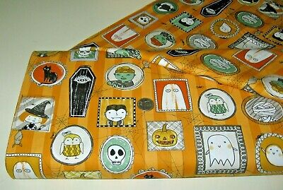 Quilting Treasures Halloween Fabric (Quilting Treasures quilt fabric HALLOWEEN TOSS orange 2 yds)