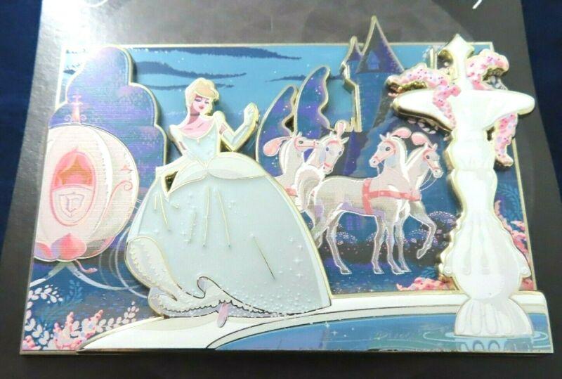Disney Pin - Artland UK Cinderella Jumbo Caltsoudas Artwork Gold LE 100 #143570