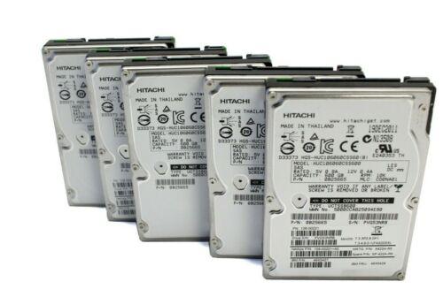 "LOT OF 5 Hitachi NetApp HUC106060CSS600 600GB 2.5"" SAS 10K RPM HDD 0B25665"