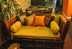 150 year antique diwaan/day bed from India solid wood handmade