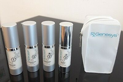 RxGenesys Stem Cell Anti Aging Skin Care System - Travel Kit - 4 pcs Anti Aging Travel Kit