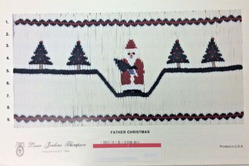 LAURA JENKINS THOMPSON SMOCKING PLATE - Father Christmas