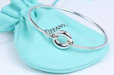 Tiffany & Co Silver Elsa Peretti Sevillana Hook Bangle Bracelet w/ Box & Pouch