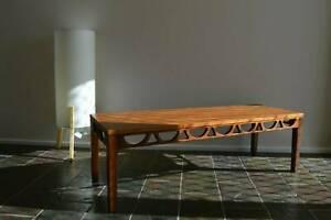 Mid Century Avalon Teak Coffee Table Retro Vintage Danish 1960s